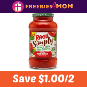 Coupon: Save $1.00 on any 2 Ragú Pasta Sauces