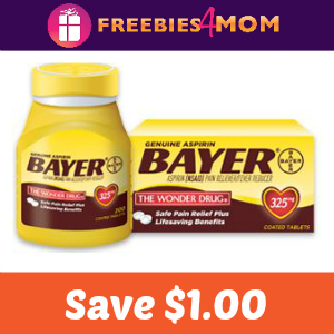Coupon: Save $1.00 on any Bayer Aspirin