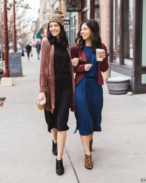 3/4 Sleeve Midi Dress $21.99