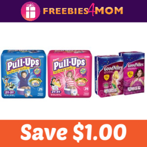 Save $1.00 on Pull-Ups or Goodnites