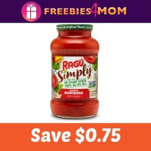 Coupon: Save $0.75 on Ragu Simply