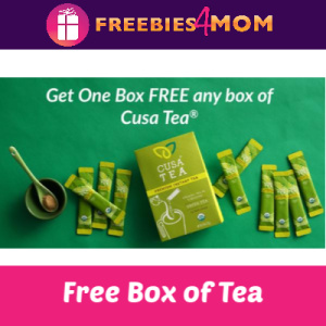 Free Box Cusa Tea (Available in Select Stores)