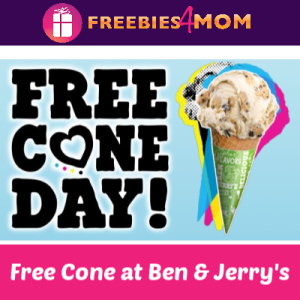 Free Cone Day at Ben & Jerry's April 9