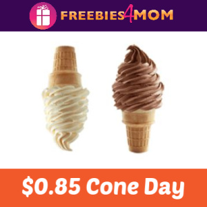 $0.85 Cone Day at Carvel May 2
