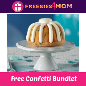 Free Confetti Bundtlet at Nothing Bundt Cakes