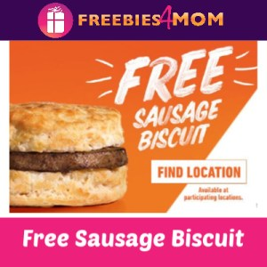 Free Sausage Biscuit at Hardee's April 15