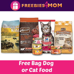 Free Bag of Dog or Cat Food at Petco