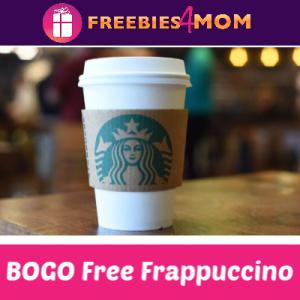 BOGO Free Frappuccino at Starbucks