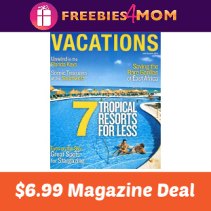 Magazine Deal: Vacations $6.99