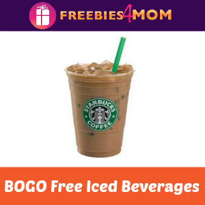 Starbucks BOGO Free Iced Beverages June 27