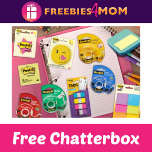 Free Post-It Back to School Chatterbox