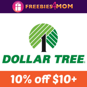 Dollar Tree 10% off July 14
