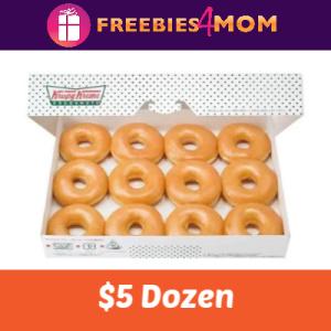 $5 Dozen at Krispy Kreme 7/26 & 7/27