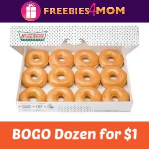 BOGO for $1 Dozen Doughnuts at Krispy Kreme