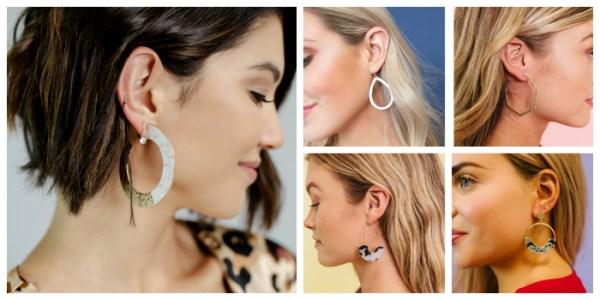 2 Pair Hoop Earrings $12 ($30 Value)