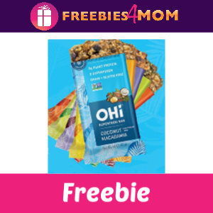 Free OHi Bar (In-Store Coupon)