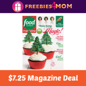 Magazine Deal: Food Network $7.25