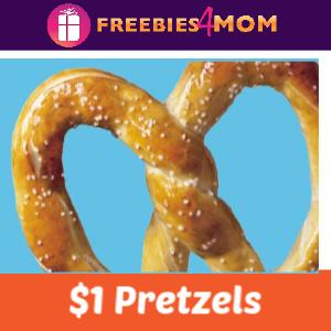 $1 Pretzels at Wetzel's Pretzels thru December