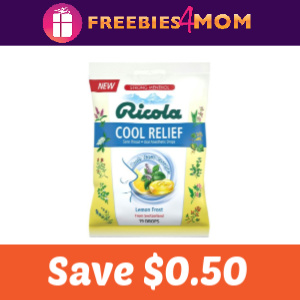 Save $0.50 on Ricola Cool Relief Drops