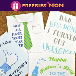 🎩Free Printable Father's Day Cards with Envelope