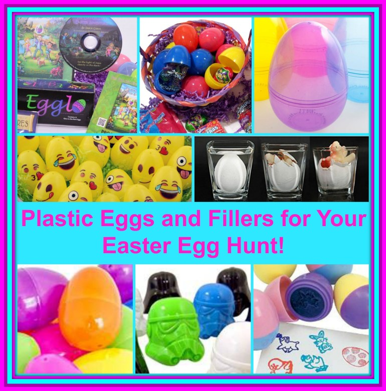 Plastic Easter Eggs and Fillers Collage