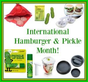 International Hamburger & Pickle Month