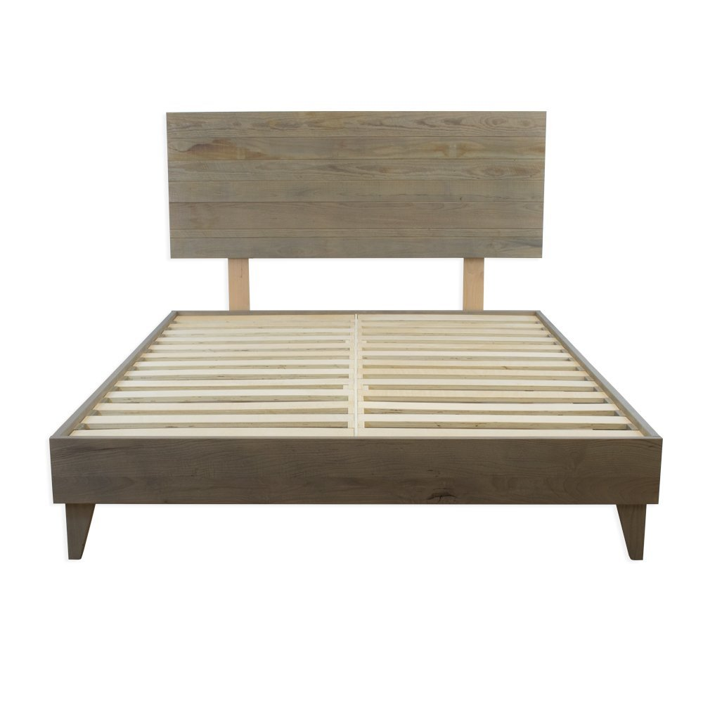 Hardwood Platform Bed & Headboard