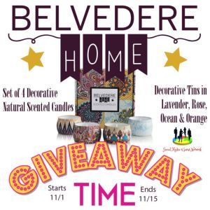 Belvedere Home Natural Scented Soy Candles