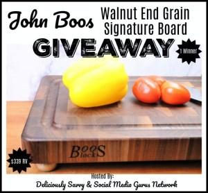 John Boos Co. Walnut End Grain Signature Board
