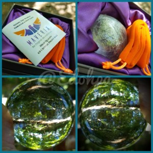 Pure K9 Crystal Ball with Travel Bag, Microfiber Cloth, and How-to Booklet