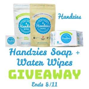 Handzies Soap + Water Wipes