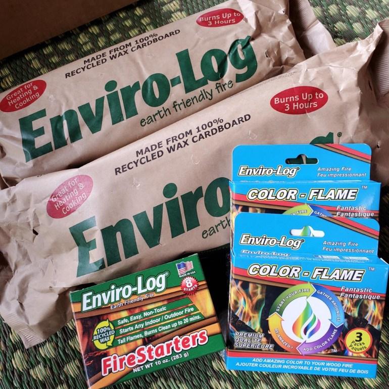 Enviro-Log Sampler Box Fire Logs