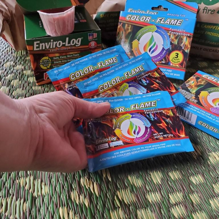 Enviro-Log Sampler Box Color Flames