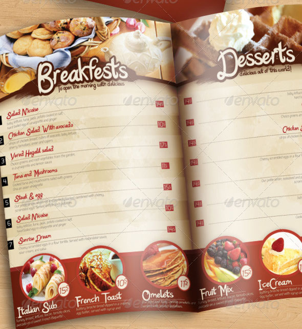 23 Creative Restaurant Menu Templates PSD InDesign Design Freebies