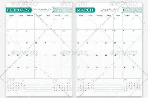 20 Beautiful Indesign Calendar Templates