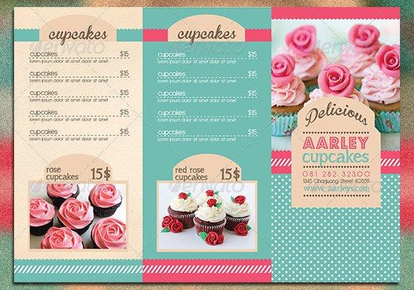 Trifold-Cupcakes-Menu-Template