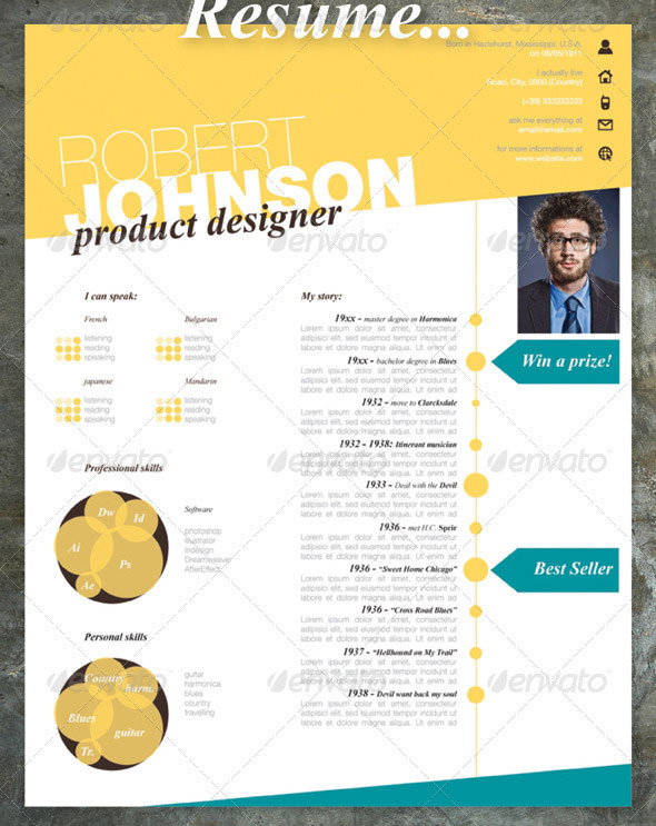 20 Creative Resume CV InDesign Templates – Design Freebies
