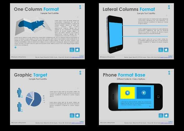 15 Beautiful Presentation Templates For Mobile App  Design Freebies