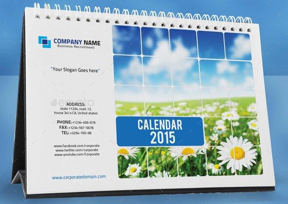 16 Calendar Indesign Templates For Year 2015 – Design Freebies
