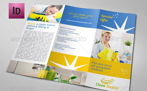 9 Nice Cleaning Service Flyer & Brochure Templates