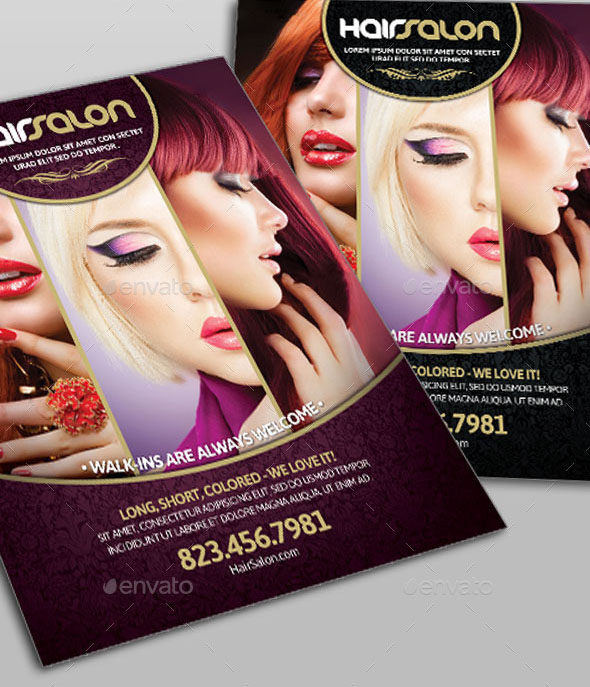16 Cool Flyer Templates For Hair – Design Freebies
