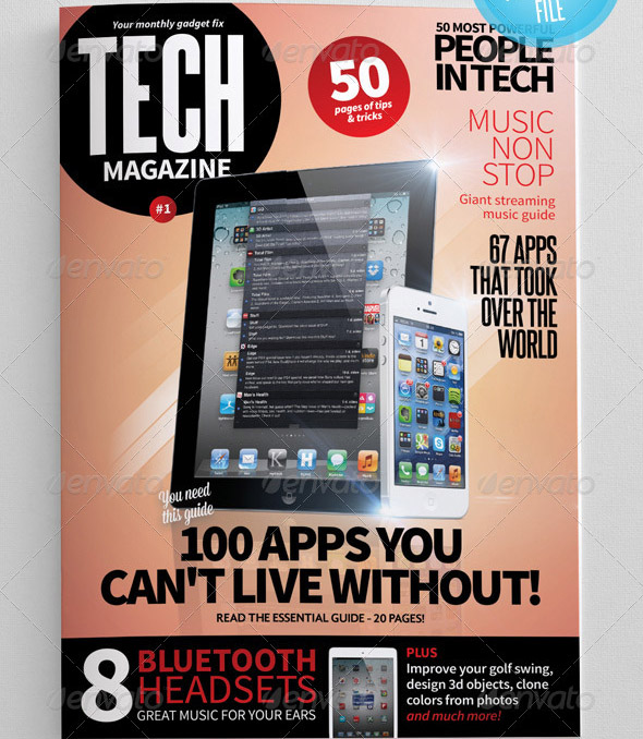 17 Cool InDesign Templates For Tech Magazine  Design Freebies