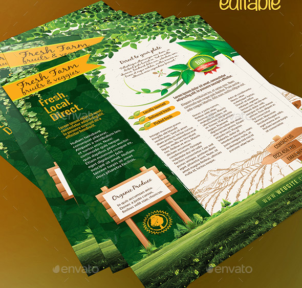23 Cool Flyer Templates For Farm Business  Design Freebies