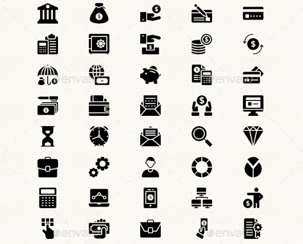 20 Cool Business & Finances Icons Sets