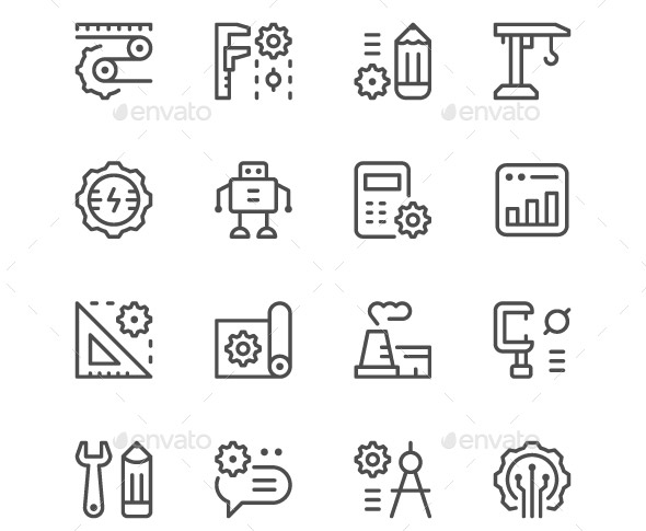 20 Cool Engineering Icons Sets