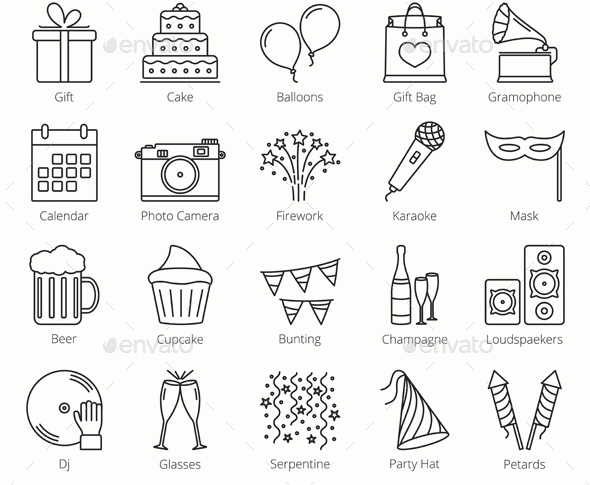 37 Cool Party Icons Sets