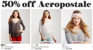 50% off Everything from Aeropostale