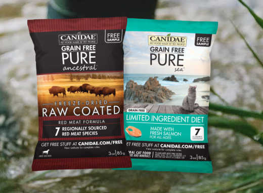 Request for a Free Canidae Dog and Cat Food Sample
