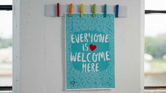 Everyone is Welcome Here Poster is Free (Global Shipping)