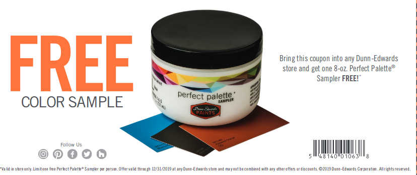 Free 8 oz Dunn Edwards Paint Samples
